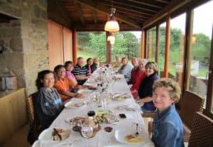 after dinner - Camino de Santiago