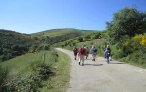 hiking uphill - Camino de Santiago